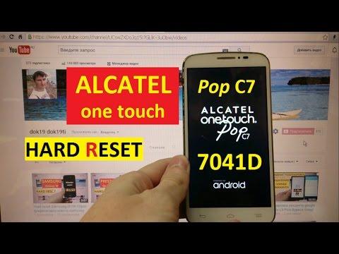 Hard reset Alcatel 7041D Pop C7 Сброс графического ключа alcatel one touch 7041d