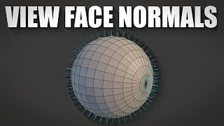 Blender 2.8 How t๐ view face normals