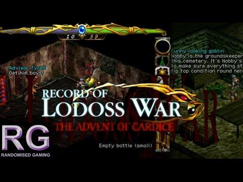 Record of Lodoss War - Sega Dreamcast - Intro & Goblin Fortress battle [HD 1080p]