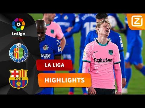 OVERTREDING VAN FRENKIE DE JONG 😩   Getafe Vs Barcelona   La Liga 2020/21   Samenvatting