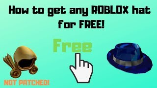 How to get ANY hats on the roblox catalog for FREE! | Not Patched | With Proof!