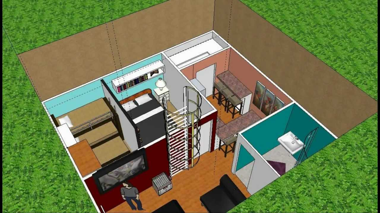 Bunker Home Done In Google Sketchup - YouTube