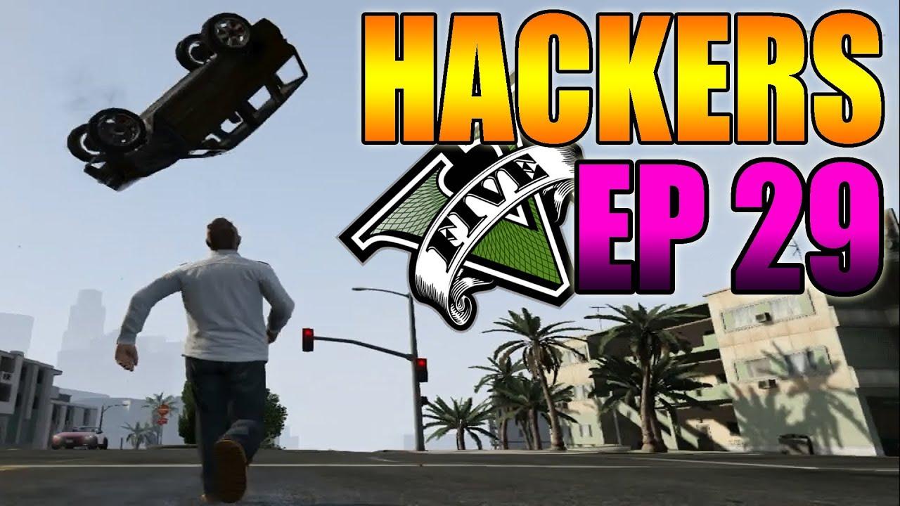 Hackers En GTA V Online #29 - Super Coche, Fuerza Hulk, Sangre, Camuflajes y Más - MOD Hack GTA 5