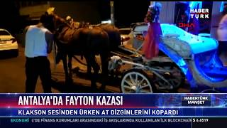 Antalya'da fayton kazası