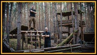 Bushcraft Camp: Baumhaus ohne Baum? Der Anfang! - Outdoor Bushcraft Lagerbau