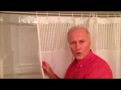 StayDry Shower Curtain   Keeping floors clean, dry and safe