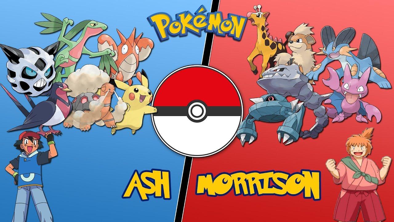 Ash Vs Morrison (Hoenn League) -  Pokemon Battle ...