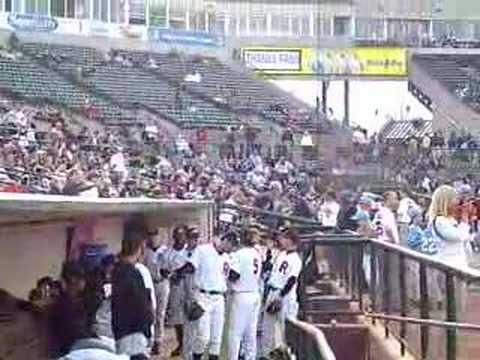 The Rochester Red Wings dugout