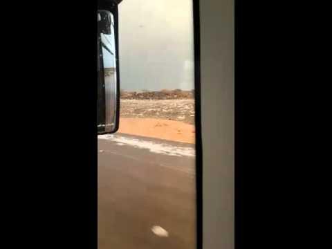 Hujan salju di Arab 13 Januari 2016