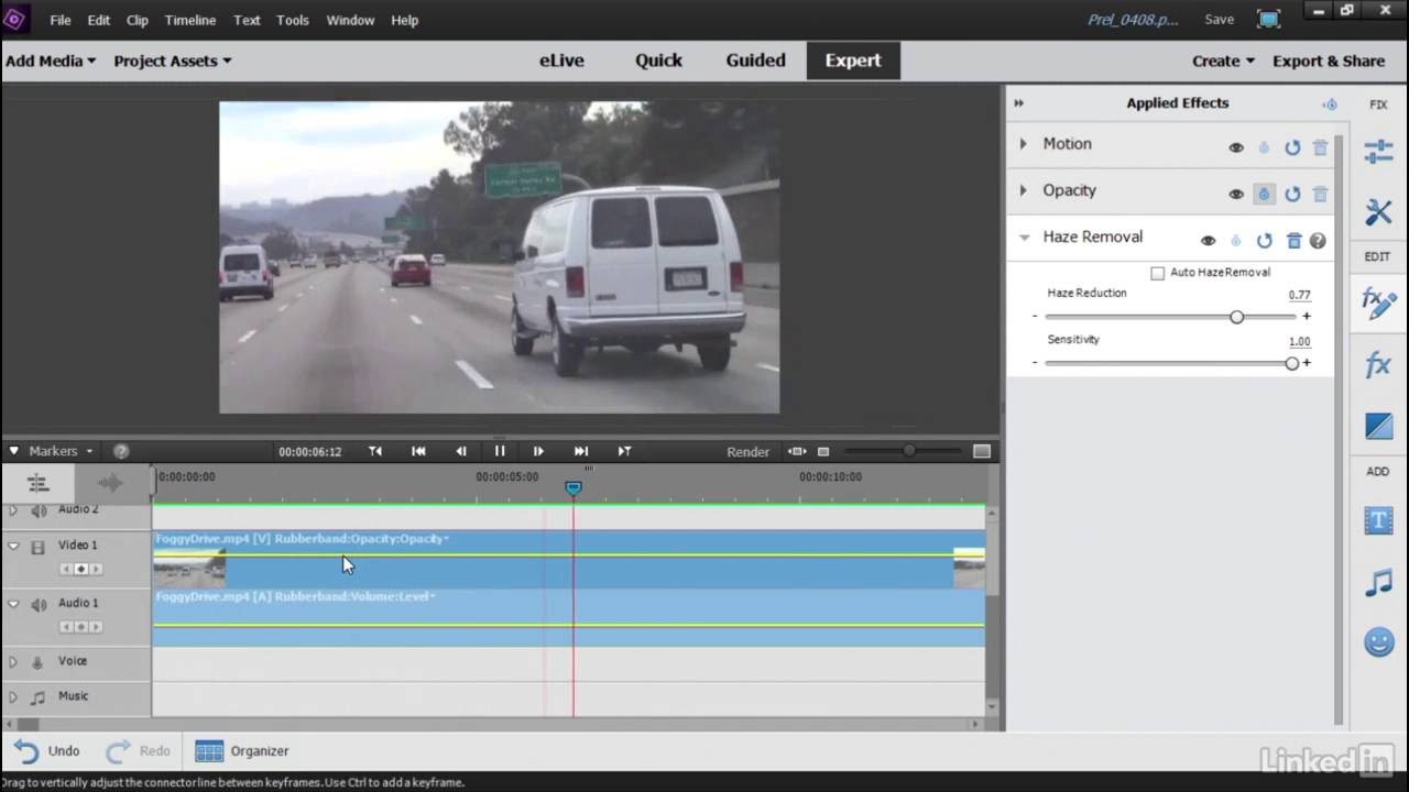 Using the new Video Haze Removal tool | Learning Premiere Elements 15 |  LinkedIn Learning