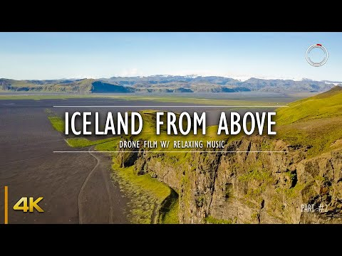 Iceland From Above - Part 2 | 1 Hour Drone Film | Aerial 4K Video W/ Relaxing Music | OmniHour