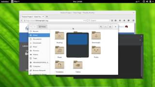 11   Fedora22 workstation Gnome Shell with Keyboard اوامر لوحة المفاتيح
