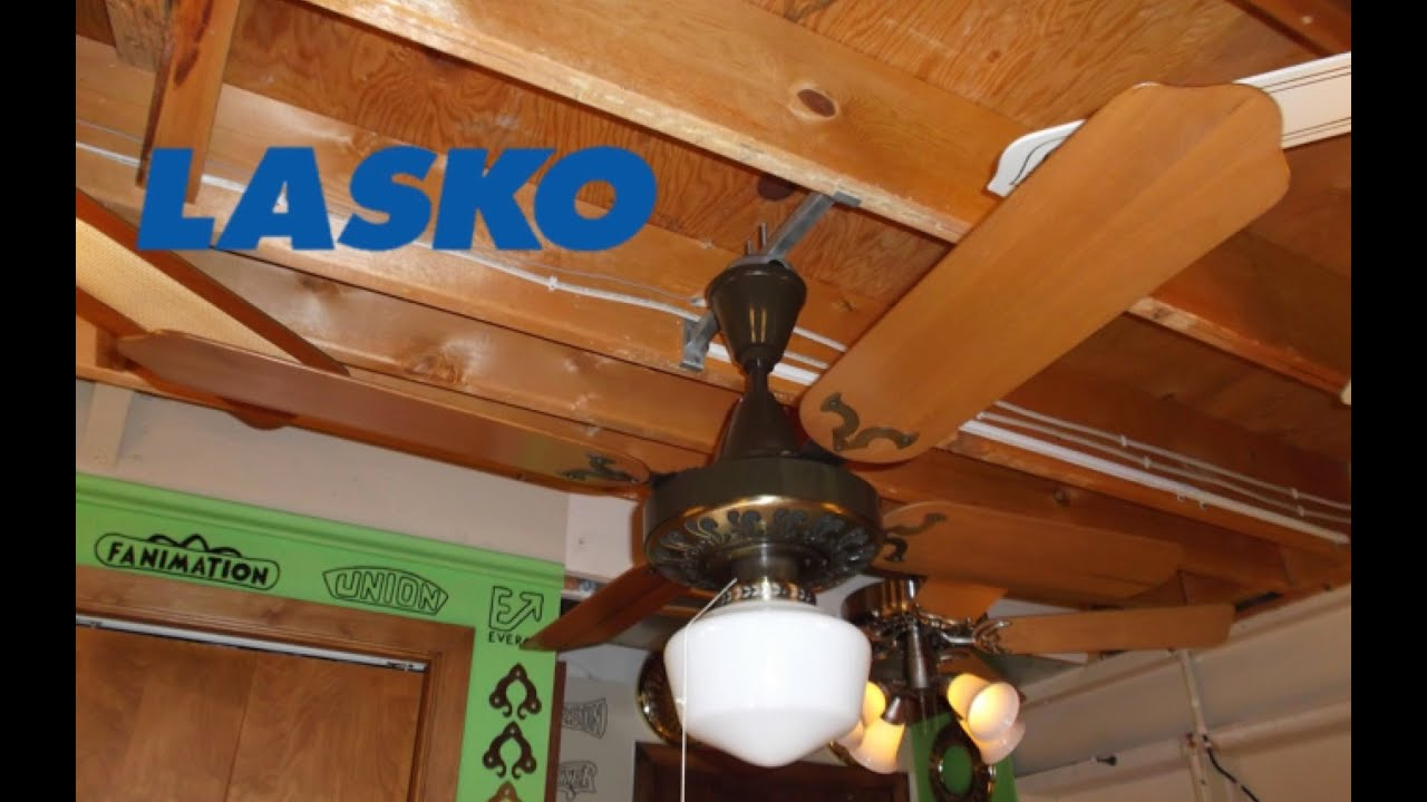 Lasko Plastic Metal Ceiling Fan Youtube