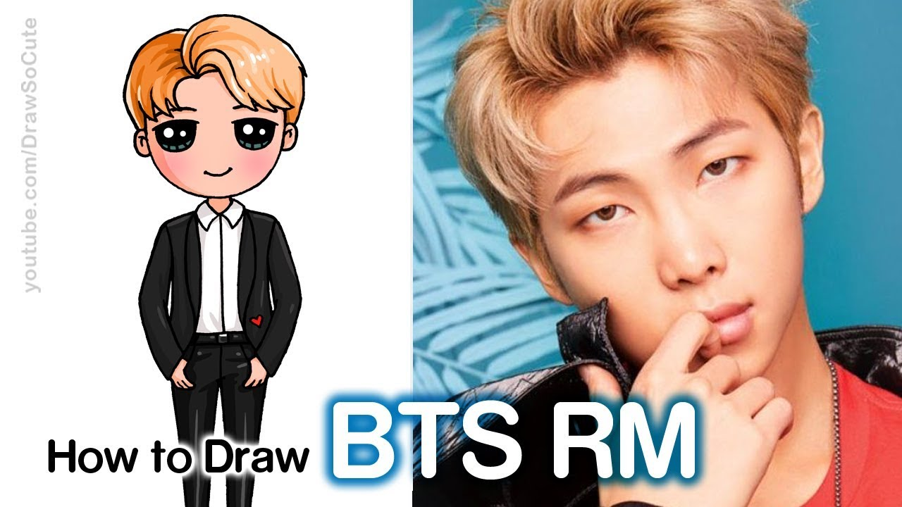 How To Draw Rm Bts Youtube