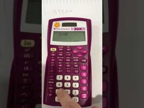 Standard Deviation Calculator Ti-30x IIS