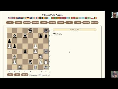 How to solve Chess Puzzles: Chessworld.net Puzzle Practice #36
