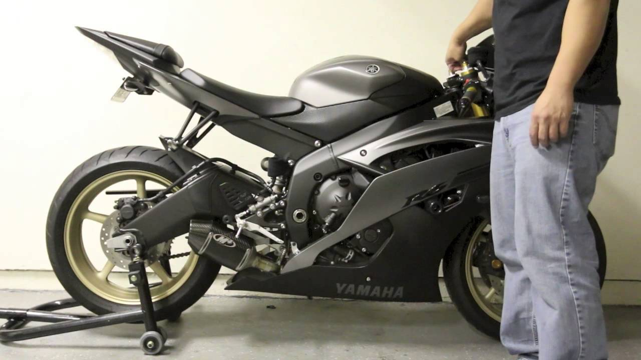 2014 r6 stock exhaust to m4 street slayer exhaust