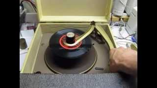 Repair of Zenith record player - portable1958