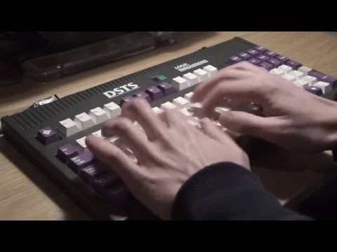 Typing video: Dolch PAC 64 Keyboard (Vintage Cherry MX Blues)
