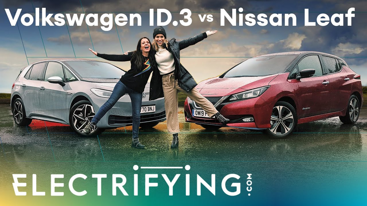 VW ID.3 vs Nissan Leaf: In-depth review with Ginny Buckley & Nicki Shields / Electrifying (4K)