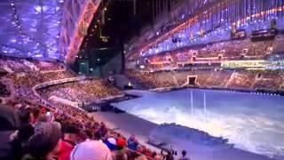 """""""Волна"""" на стадионе фишт. Открытие паралимпиады"""