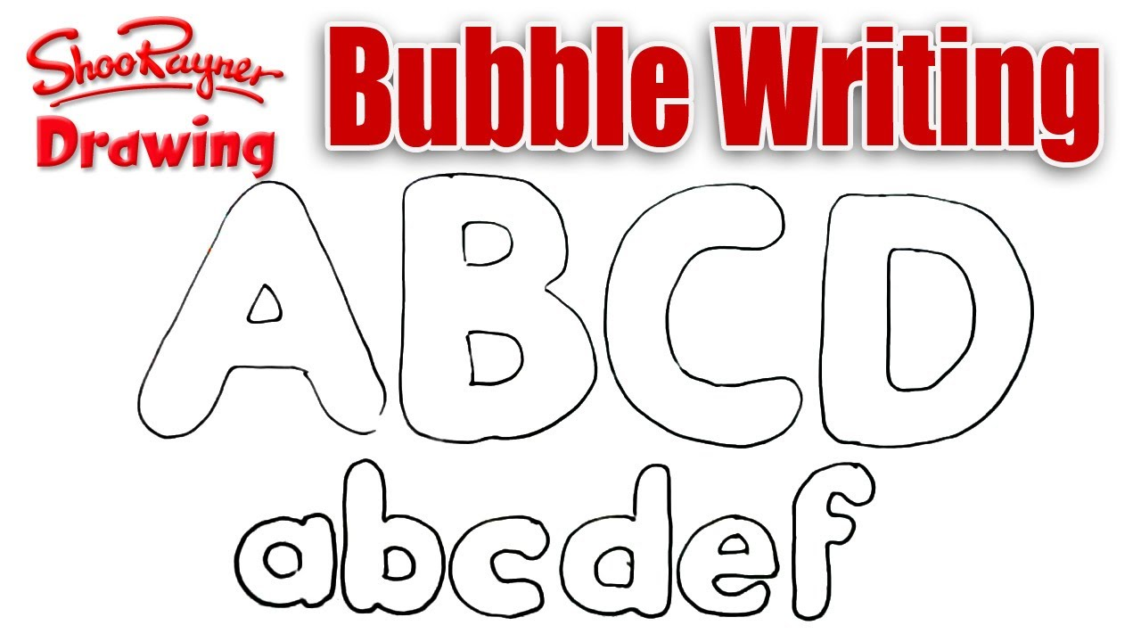 How To Draw Bubble Writing
