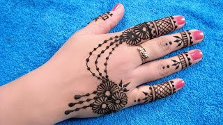 Mehndi Designs For Back Hands - Ornamental Mehndi...