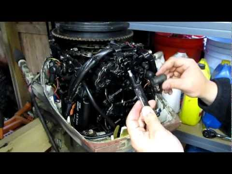 Setting ignition timing with a timing fixture on evinru for Yamaha outboard compression test results