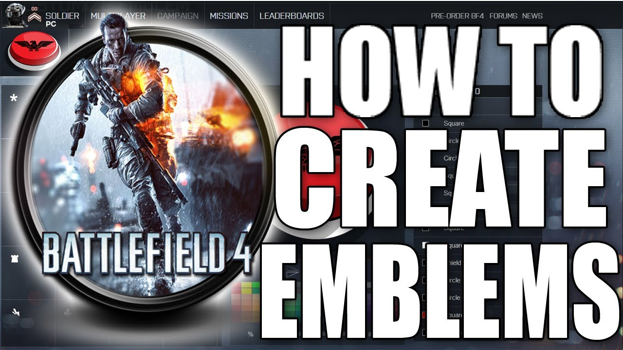 Battlefield 4 quot how to create emblems via battle log very easy