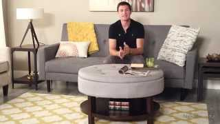 Upholstered Coffee Table Storage Bench - Product Review Video
