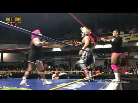 Pyscho Clown, Maximo y Mascara vs Dave, Murder y Monsther Clown - 3er Caida - 11 Febrero 2018