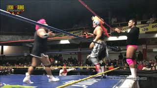 Pyscho Clown, Maximo y Mascara vs Dave, Murder y Monsther Clown - 3er Caida - 11 Febrero 2018