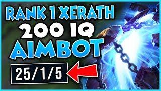 #1 XERATH WORLD LITERAL AIM-BOT SCRIPTING (ACTUAL 1V9 GAME) - League of Legends