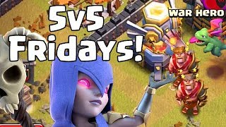 THREE WINS in a ROW!?  5v5 Fridays | Clash of Clans