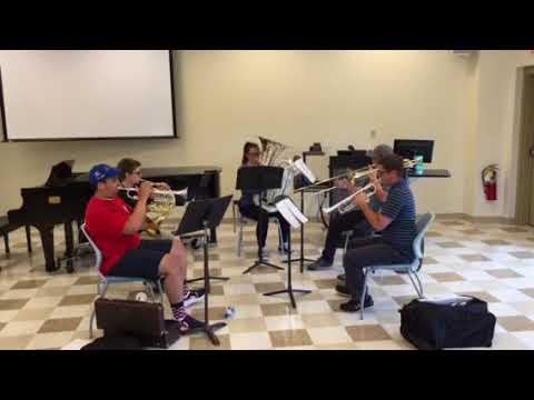 Chamber camp brass quintet