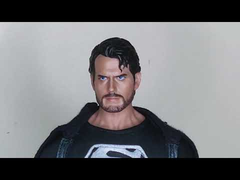 1/6 Scale Black Superman Custom Tbleague Super Flexible Seamless M34 Body