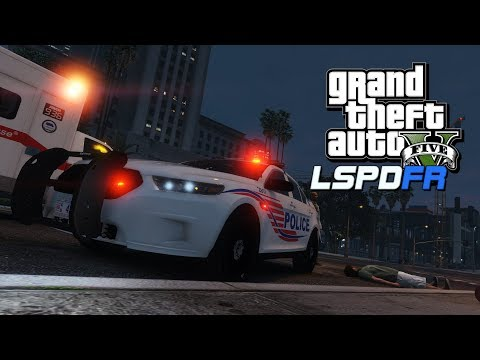 """GTA5 (SP) LSPDFR Day-169 (Police Mod) (City Patrol) (D.C. Police) """"Gas Station shoot out"""""""