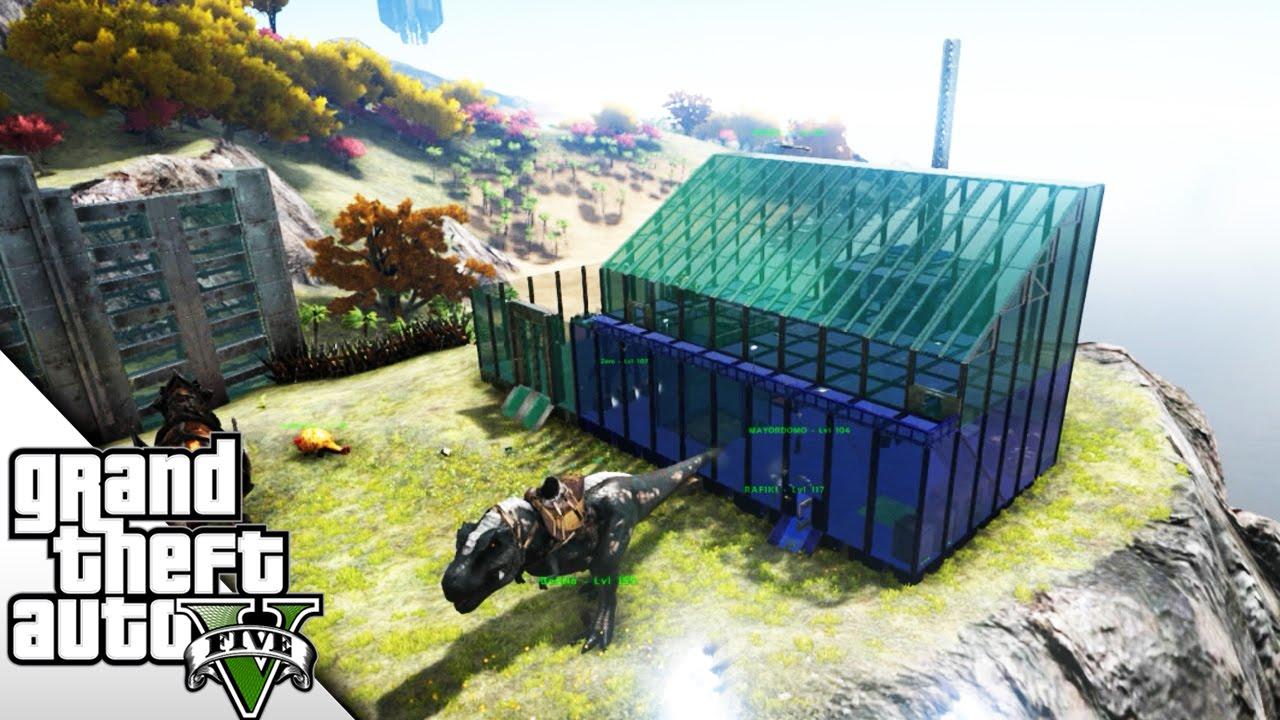 ampliando la super casa de cristal mods en ark braxxter youtube