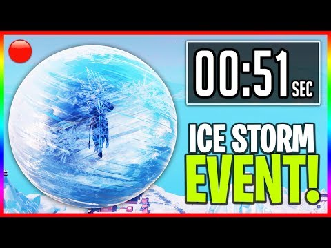 🔴 The ICE STORM Event in Fortnite! - LIVE \