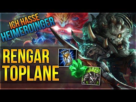 ICH HASSE HEIMERDINGER! Rengar Toplane [League of Legends] [Deutsch / German]