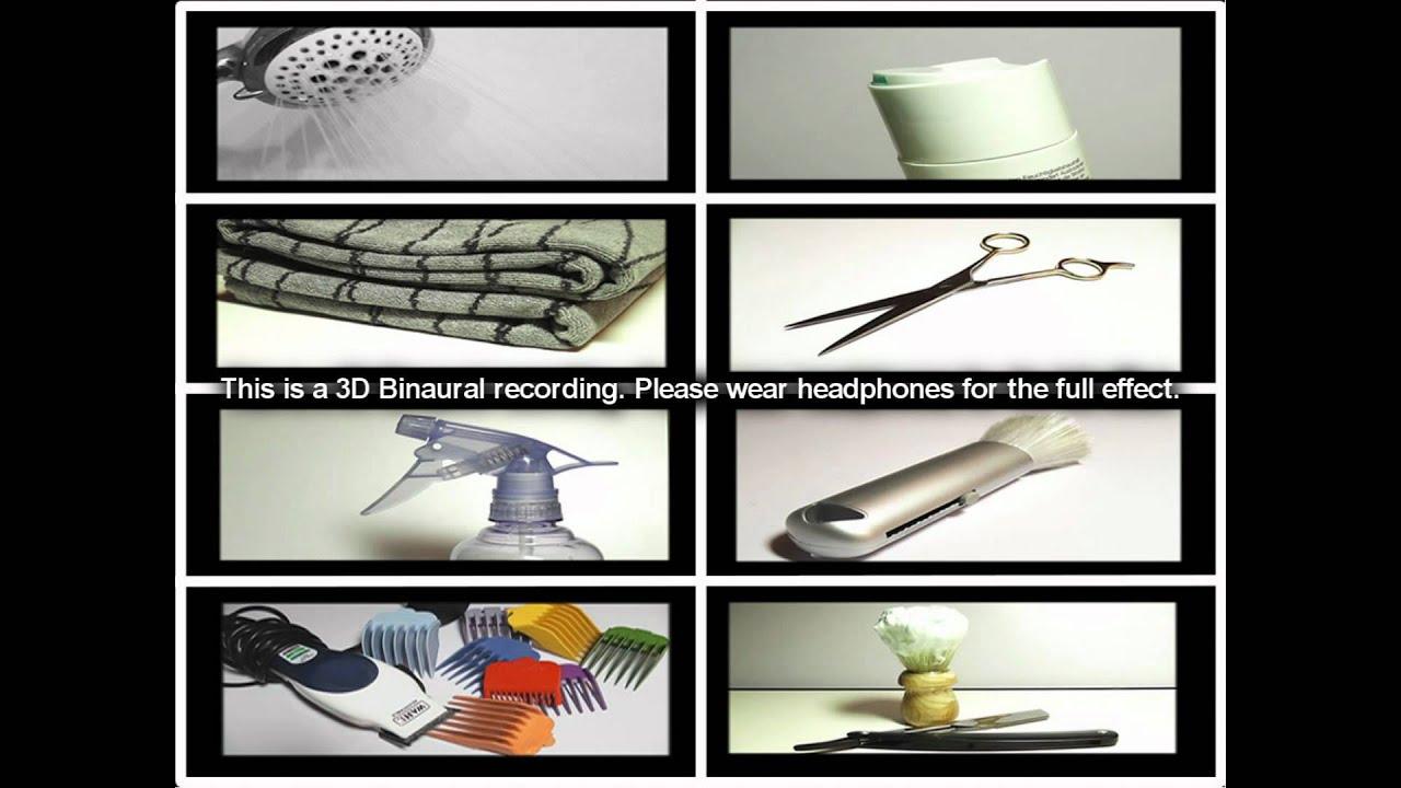 11. 11D Sound - Hairdressers Virtual Barber shop (Binaural) -  SOUNDsculptures (ASMR)