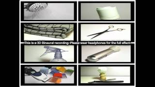 64. 3D Sound - Hairdressers Virtual Barber shop (Binaural) - SOUNDsculptures (ASMR)