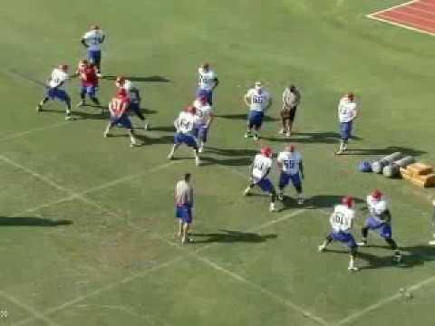 LA Tech Offensive Line Drills 2012 (Sound)