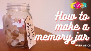 How to make a memory jar | Crafts with Alice | ARTWORKS