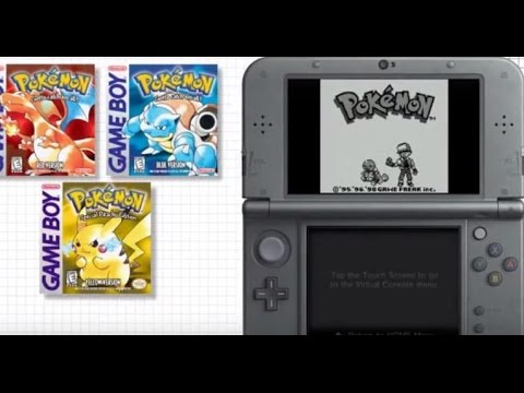 Downloading Pokemon Red, Blue and Yellow on Nintendo 3DS