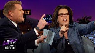 """Rosie O'Donnell & James Corden Rap """"Hamilton"""""""