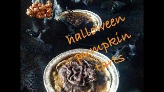 halloween pumpkin tarts