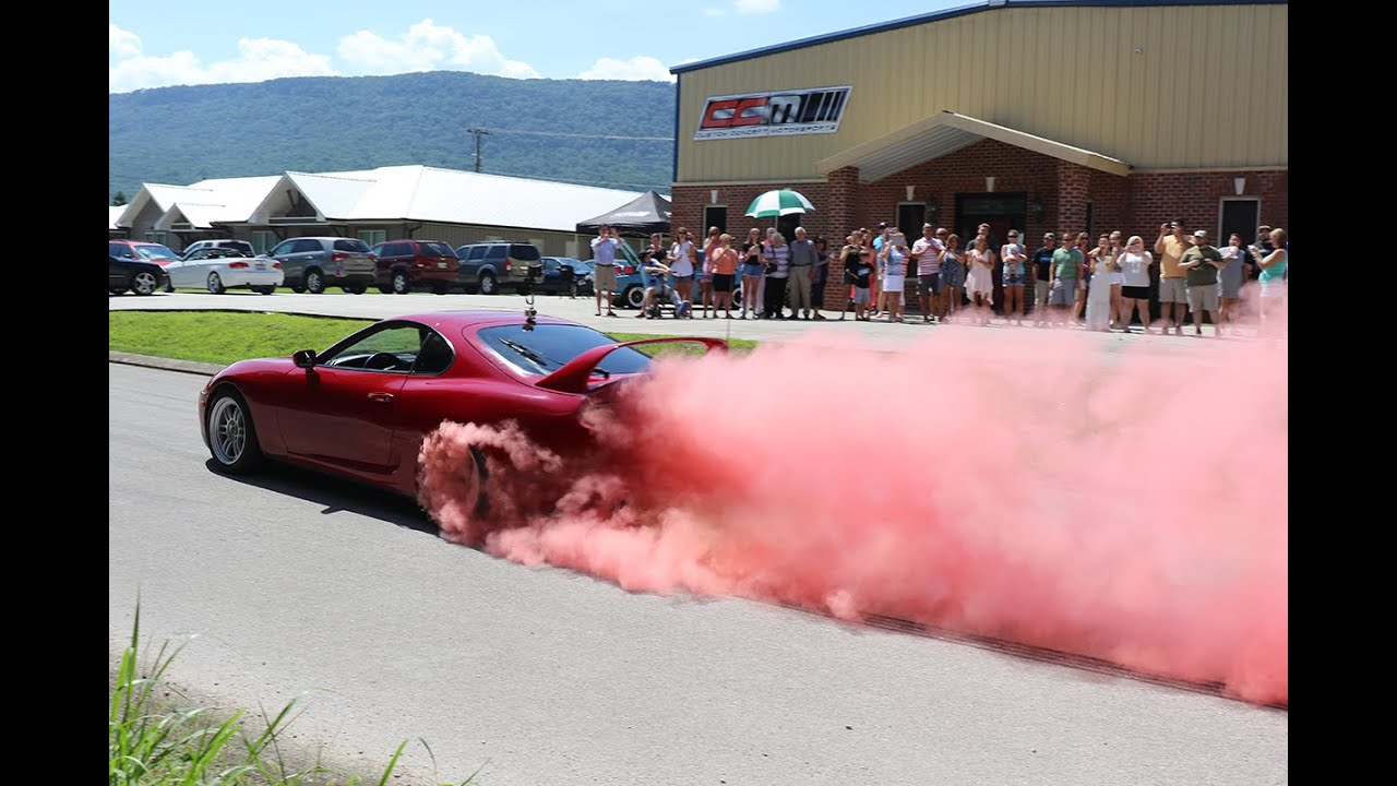 Supra Colored Smoke Burnout Baby Gender Reveal Youtube