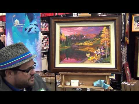 Disney Fine Artist Tim Rogerson Endorsement Of Enchanted Paintings - 2014