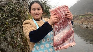 五花肉不要再红烧了,农村姑娘教你一种新做法,你绝对没吃过 thumbnail